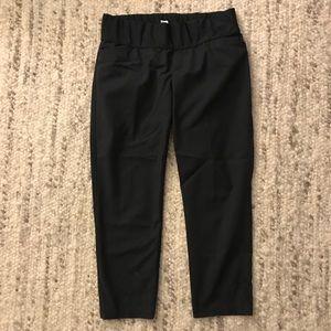 Gap maternity slim crop pants, demi panel, 8, blk